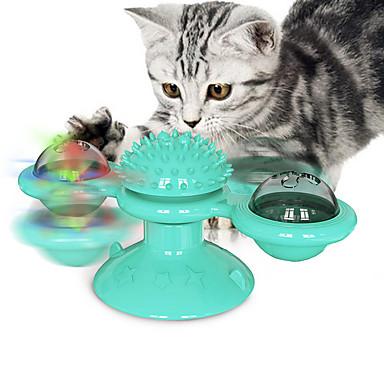 olcso Termékek házi kedvenceknek-Interaktív játék Forgó játék Macskák Kiscica Házi kedvencek Játékok 1set Kerek Háziállat-barát Masszázs Kisállat gyakorlat Műanyag Ajándék