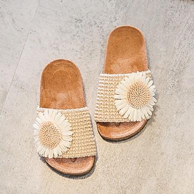cheap Kids' Slippers-Girls' Comfort Synthetics Slippers & Flip-Flops Big Kids(7years +) Almond / Black / Yellow Fall