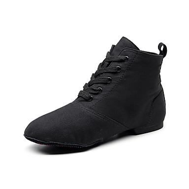 ieftine Pantofi Dans Clasic & Modern-Bărbați / Pentru femei Pantofi de Balet / Pantofi Jazz / Pantofi Moderni Pânză Dantelat Josi / Adidași Toc Drept Pantofi de dans Negru / Rosu / Maro