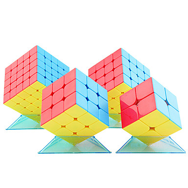 cheap Games & Puzzles-Speed Cube Set 4 PCS Magic Cube IQ Cube Pyramid Alien Megaminx 5*5*5 Magic Cube Puzzle Cube Professional Level Stress and Anxiety Relief Focus Toy Classic & Timeless Kid's Adults' Toy All Gift