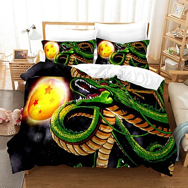 cheap Duvet Covers-Home Textiles 3D Bedding Set  Duvet Cover with Pillowcase 2/3pcs Bedroom Duvet Cover Sets  Bedding Dragon Ball