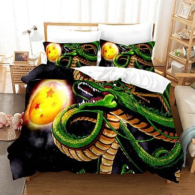 cheap Duvet Covers-Home Textiles 3D Bedding Set  Duvet Cover with Pillowcase 2/3pcs Bedroom Duvet Cover Sets  Bedding Dragon Ball