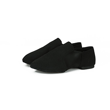 cheap Ballet Shoes-Men's / Women's Ballet Shoes / Jazz Shoes / Dance Sneakers Canvas Loafer Flat / Sneaker Flat Heel Dance Shoes Black / Dark Red / Brown