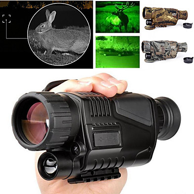 cheap Binoculars, Monoculars & Telescopes-5 X 40 mm Night Vision Monocular Infrared Lenses Fully Multi-coated BAK4 with Recording Image and Video Function Camping / Hiking Hunting Fishing Portable Night Vision PC driver Rubber Metal