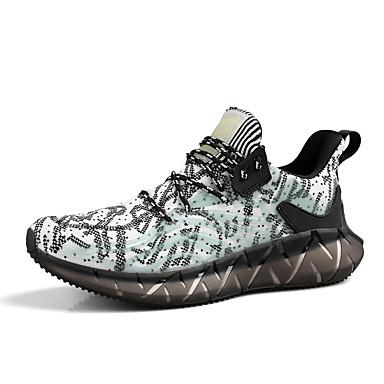 abordables Chaussures de Course Homme-Homme Automne Sportif Athlétique Chaussures d'Athlétisme Course à Pied Polyuréthane / Tissage Volant Blanche / Noir / Rouge