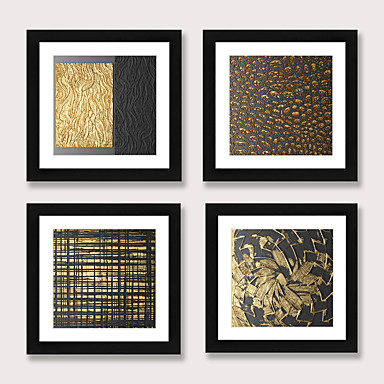 cheap Framed Arts-Framed Art Print Framed Set 4 - Abstract Aureate Sofa Setting Wall Art Ready to Hangs