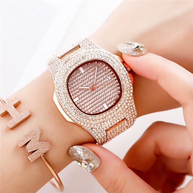 cheap Square & RectangularWatches-Women's Quartz Watches Quartz Luxury Water Resistant / Waterproof Analog - Rose Gold Gold Silver One Year Battery Life / Japanese / Japanese
