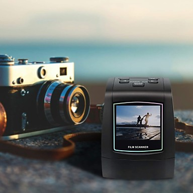 """cheap Office & School-MINI Negative Film Scanner 35mm 135mm Slide Protable Film Converter Photo Digital Image Viewer with 2.36"""" LCD Build-in Editing Softwar"""