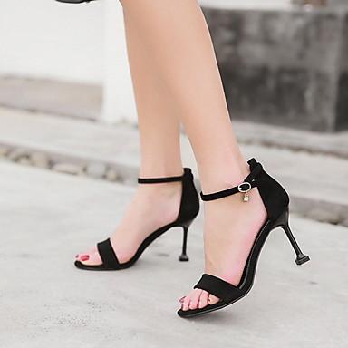 ieftine Noutăți-Pentru femei Tocuri / Sandale Vară Toc Stilat Pantofi vârf deschis Zilnic PU Migdală / Negru / Galben