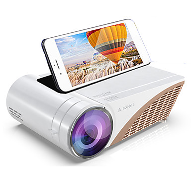 cheap Projectors-S6 Mini Projector Led projector Support 1080p Portable HD Home Theater LED Smart Video Projector Option Android 10 HDMI USB Movie Projector Beamer