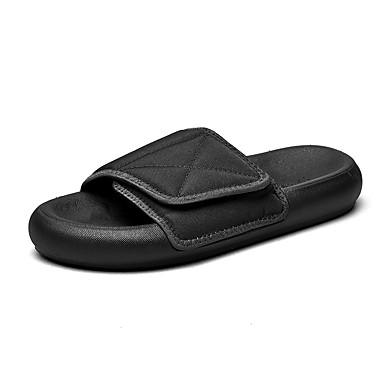 cheap Men's Slippers & Flip-Flops-Men's / Unisex Summer Classic / Preppy Daily Outdoor Slippers & Flip-Flops Walking Shoes Cotton Breathable Wear Proof Black