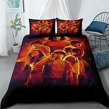 cheap Duvet Covers-Home Textiles 3D Bedding Set  Duvet Cover with Pillowcase 2/3pcs Bedroom Duvet Cover Sets  Bedding Stranger Things