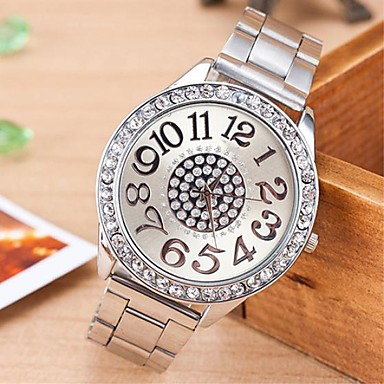 cheap Women's Watches-Women's Quartz Watches Fashion Silver Alloy Chinese Quartz Rose Gold Gold Silver Casual Watch Analog One Year Battery Life