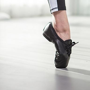 cheap Ballet Shoes-Women's Ballet Shoes Sheepskin Flat Flat Heel Dance Shoes Black