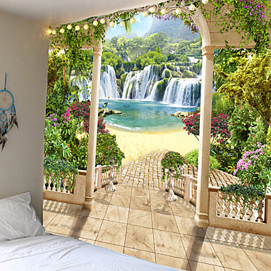 cheap Landscape Tapestries-Wall Tapestry Art Decor Blanket Curtain Picnic Tablecloth Hanging Home Bedroom Living Room Dorm Decoration Holiday Vacation Landscape Like Mountain Garden Flower