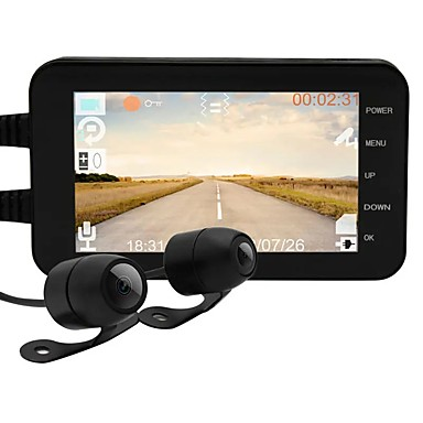رخيصةأون فيديو السيارة-للماء 1080 وعاء / 720 وعاء دراجة نارية wifi dvr mt003 4 بوصة ips عرض المضادة للاهتزاز تسجيل مزدوج القيادة مسجل داش كاميرا
