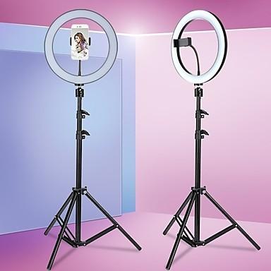 cheap Camera & Photo-Round anchor live broadcast bracket fill light beauty light 8/10/13inch