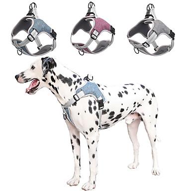 رخيصةأون ملابس وإكسسوارات الكلاب-كلاب تحميلها أربطة عاكس المحمول ناعم لطيف ومحبوب مقطع أمامي من السهل المشي الأمان لون سادة بريطاني البوليستر كلب صغير كلب متوسط كلب كبير أرجواني أزرق 1PC