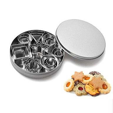 cheap Bakeware-24pcs/set Stainless Steel Cookie Cutters Star Heart Flower Round Shape Biscuit Molds Fondant Clay Cutters Baking Molds