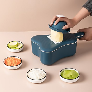 cheap Kitchen Utensils & Gadgets-Vegetable Cutter Grater Round Handle Potato Carrot Slicer Scoop Kitchen Tool Used for washing and draining 11pcs set
