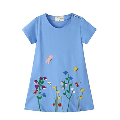 hesapli Kids CollectionUnder $8.99-Çocuklar Genç Kız Çiçekli Elbise Havuz
