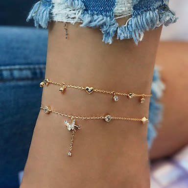 cheap Body Jewelry-Women's Ankle Bracelet Anklet Jewelry Gold For Holiday