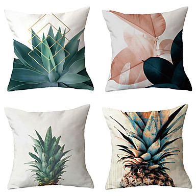 cheap Decorative Pillows-4 pcs Throw Pillow Simple Classic 45*45 cm Cushion Vintage Circle Cover Sofa Home Decor Throw Pillow Case
