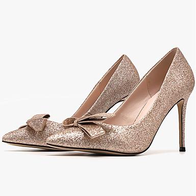 abordables Chaussures femme-Femme Chaussures à Talons Printemps / Eté Talon Aiguille Bout pointu Quotidien Polyuréthane Rose / Argent