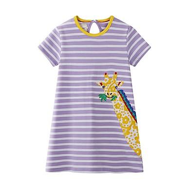 hesapli Kids CollectionUnder $8.99-Çocuklar Genç Kız Karton Elbise Mor