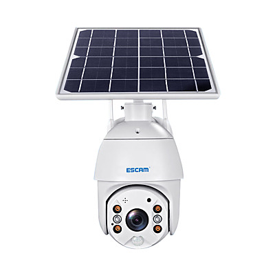 cheap Consumer Electronics-ESCAM QF280 1080P Cloud Storage PT WIFI Battery PIR Alarm IP Camera With Solar Panel Full Color Night Vision Two Way Audio IP66 With  Battery