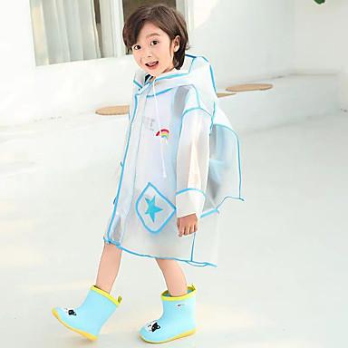 Недорогие Товары для дома-детский плащ сплошной цвет мальчиков школьная сумка цельный пончо длинные прогулочные зрачки утолщение девочек плащ куртка