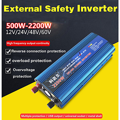 povoljno Inverter struje-carmaer inverter 12v / 24v / 220v 500w automobilski pretvarač napona automobila pretvarač 12v / 24v 220v solarni inverter auto inverterski punjač