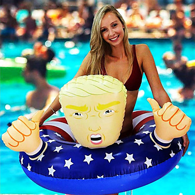 cheap Inflatable Ride-ons & Pool Floats-Swim Rings Cartoon Mixed Material Summer Swimmer Swimming 1 pcs Unisex Kid's Adults