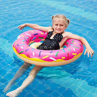 cheap Inflatable Ride-ons & Pool Floats-Donut Pool Float Swim Rings Pool Float Pool Floaties Inflatable PVC Summer Vacation Beach Swimming Pool Party Boys' Girls' Kid's