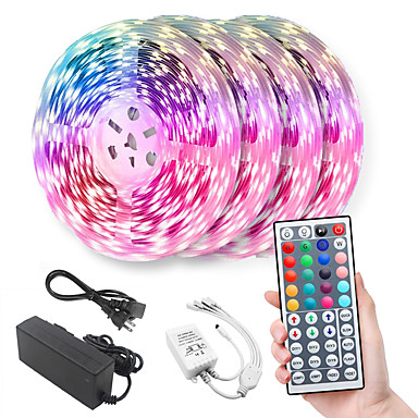 20m Light Sets LED Light Strips RGB Tiktok Lights 600 LEDs 5050 SMD 10mm Remote Control RC Cuttable Dimmable Linkable Suitable for Vehicles Self-adhesive Color-Changing IP44