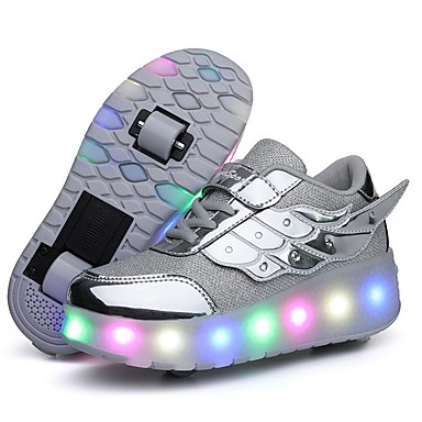 cheap New Arrivals-Girls' LED Shoes PVC Trainers / Athletic Shoes Little Kids(4-7ys) Black / Pink / Gold Summer