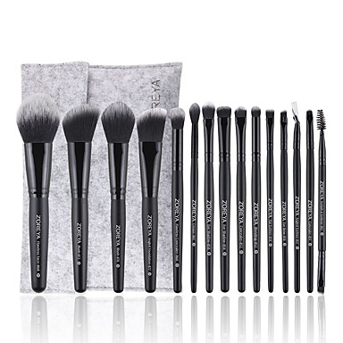 cheap Makeup Brush Sets-Professional Makeup Brushes 15pcs Soft Artificial Fibre Brush Wooden / Bamboo for Blush Brush Foundation Brush Eyeshadow Brush