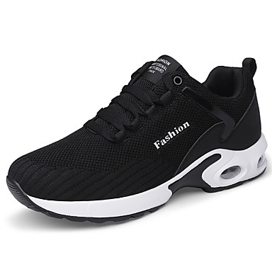 cheap Men's Shoes-Men's Spring / Summer Sporty / Casual Athletic Daily Trainers / Athletic Shoes Running Shoes / Fitness & Cross Training Shoes Tissage Volant Breathable Shock Absorbing Wear Proof Black