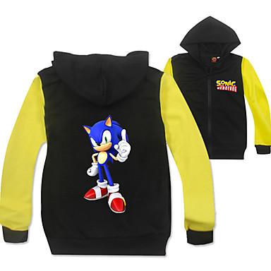cheap Boys' Clothing-Kids Boys' Active Basic Rainbow Long Sleeve Shirt Black