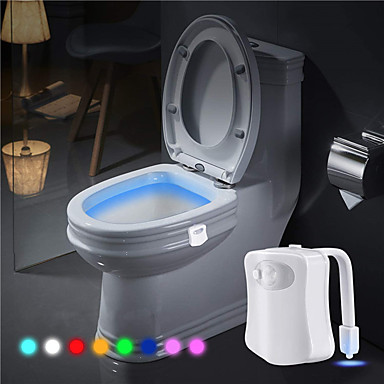 cheap Novelty & Gag Toys-Toilet Light LED Lighting Night Light Motion Sensor 8 colors Batteries Powered Battery Adults for Birthday Gifts and Party Favors  1 pcs Daily