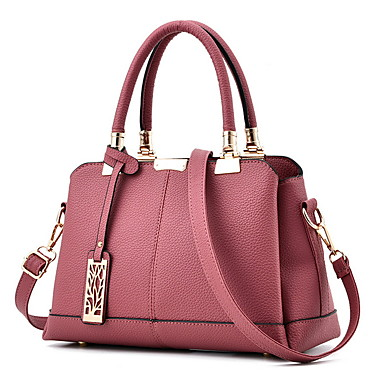 cheap Handbag & Totes-Women's Bags PU Leather Crossbody Bag Zipper Chain for Daily Wine / Black / Blushing Pink / Dark Purple / Dark Gray