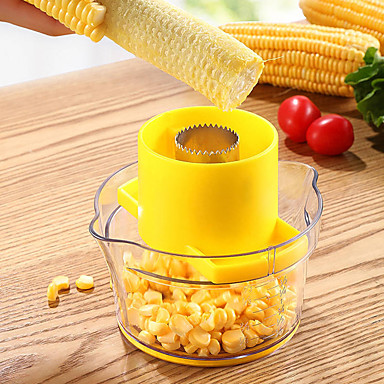 cheap Kitchen Utensils & Gadgets-Corn Stripper 4 in 1 Corn Shucker Tool Corn Holder Corn Stripping Tool Corn Cutter Remover with Built-In Measuring Cup Grate