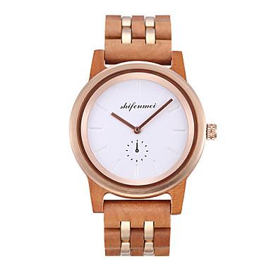 cheap Women's Sport Watches-Women's Sport Watch Fashion Wood Wood Chinese Quartz Wood Wooden 30 m 1 pc Analog One Year Battery Life