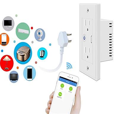 billige Smartplugger-wifi veggkontakt smart usb-sokkel støtter stemmestyring eksternt tid bytte graffiti
