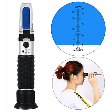 cheap Testers & Detectors-portable refractometer hydrometer for Alcohol Meter Tester 0-80% Wine Alcohol Tester Meter alcoholometer alcoholmeter ATC