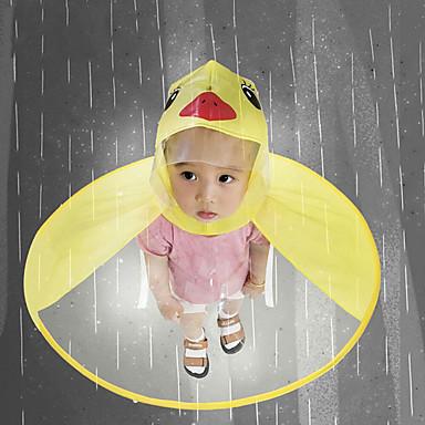 Недорогие Товары для дома-милый плащ мультфильм утка дети плащ нло дети зонтик шляпа волшебные свободные руки мальчиков и девочек ветрозащитный пончо ребенка