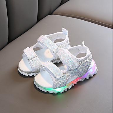 رخيصةأون صنادل للأطفال-للفتيات LED / مريح PU صنادل أحذية ليد طفل (9M-4ys) / الأطفال الصغار (4-7 سنوات) أبيض / أسود / زهري الصيف