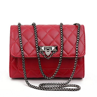 cheap Crossbody Bags-Women's Bags PU Leather Crossbody Bag Zipper Solid Color for Daily White / Black / Red