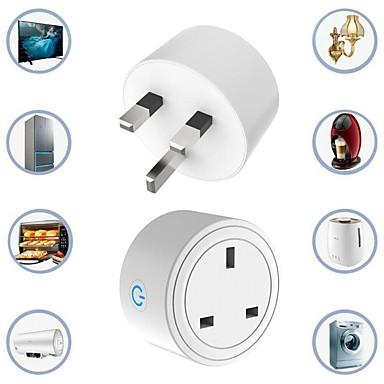 cheap Smart Plug-UK Plug 16A smart Wireless plug   Smart Power Socket Remote Control Socket WiFi Smart Plug with Google Home Alexa