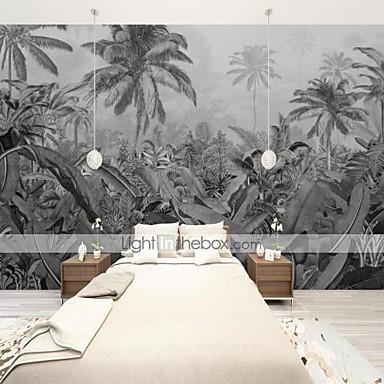 ieftine Tapet-Art deco personalizate tapet mural autoadeziv sud-est asia frunze alb-negru potrivite pentru fundal perete sufragerie cafenea restaurant hotel decorare perete art